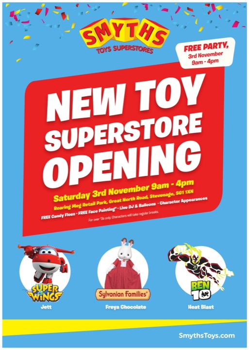 Stevenage new toy store opening Poster 1 720